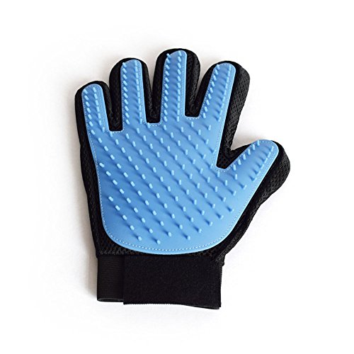 MIN0 ANT Pet Bath Massage Glove Soft Fabric 3D Mesh + TPR Unique Design Efficient for Pet Grooming, One Right Handed Hair Removal Brush, Comfortable and Durable