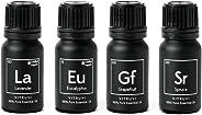 Vitruvi Essentials kit Essential Oil Starter kit, Lavender, Eucalyptus, Grapefruit, Spruce, 4X 10ml Bottles, 4 Count