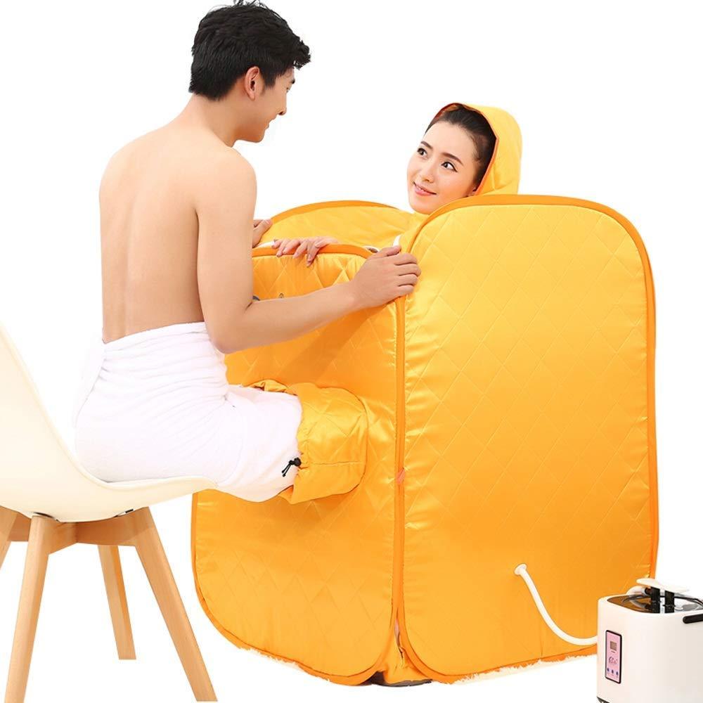 HZX Piroscafo - Casetta per Sauna a Vapore per Uso Domestico, Giallo, B