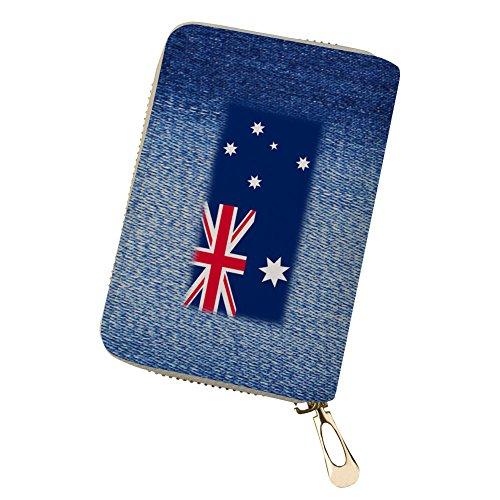 Lila Hund Kreditkarten Brieftasche Leder personalisierte Kartenhalter Flagge 6