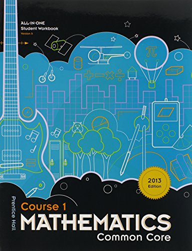 Mathematics Common Core, Course 1, All-in-one Student Workbook Version A