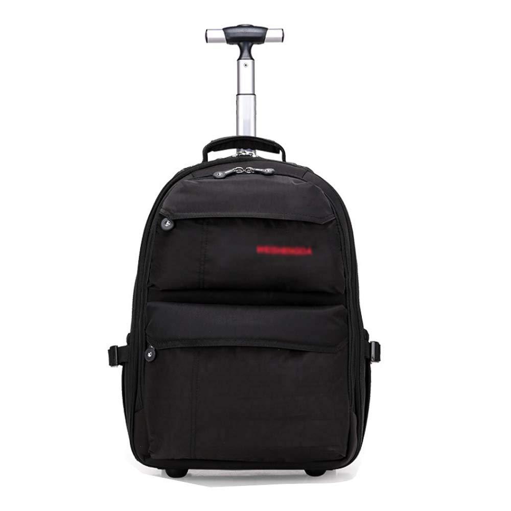 HUIFA ビジネストロリーリュックサックレジャートラベルバッグトロリーケースビジネスコンピュータのバックパックスーツケース19インチ21インチ 。 (色 : 黒, サイズ さいず : 21 inches) 21 inches 黒 B07MYHMH7L