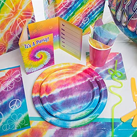 60/'s Groovy Napkins 2ply paper Party Tableware Disposable Birthday Wedding