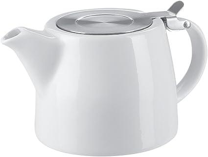 Belinlen 18 Ounce Tea Pot With Infuser And Sls Lid White Teapots Amazon Com