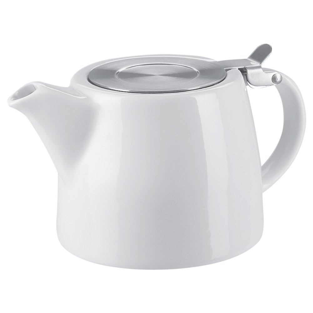 Benail 18 oz Tea pot with infuser and SLS lid (White)