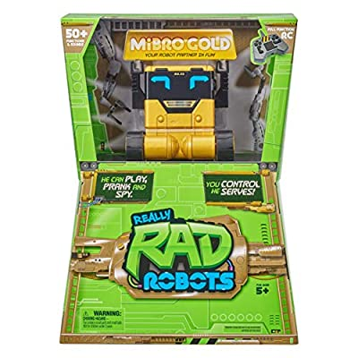 Really Rad Robots - Mibro Gold - Plays, Talks, and Pranks ( Exclusive): Toys & Games