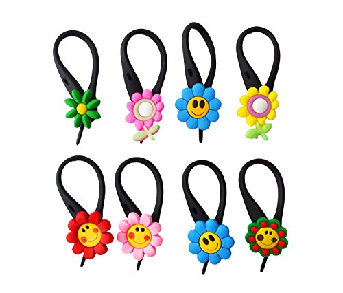 AVIRGO 8 pcs Soft Zipper Pull Charms for Backpack Bag Pendant Jacket Set # 49-3 by Hermes