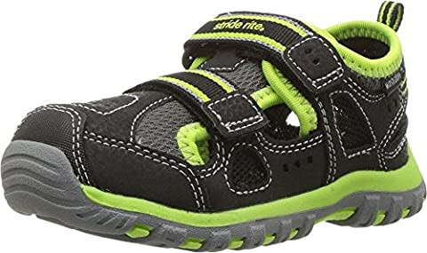 Stride Rite Baby Boy's Made 2 Play Thatcher (Toddler) Black/Green Shoe