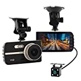 Super HD 1080P Front + VGA Rear 290° Super Wide Angle Car Dash Cam with 4'' Large HD Screen, G-Sensor, Loop Recording, Parking Mode, Super Night Version etc.
