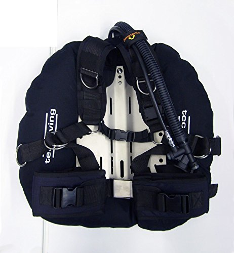 DOUBLES TEC DIVING BCD HARNESS 40 LB LIFT WING SS BACKPLATE TECH SCUBA DIVE