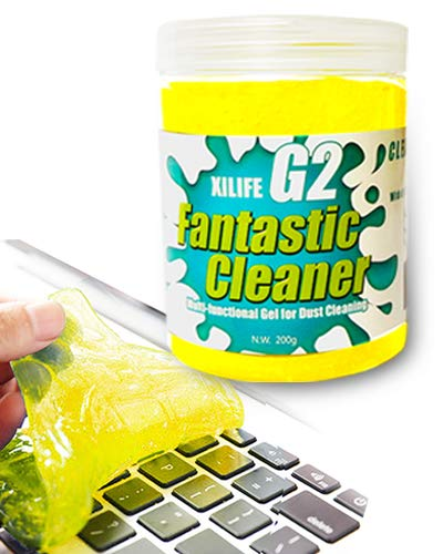 XILIFE Keyboard Cleaner Universal Keyboard Cleaning Gel Dust Cleaner for Keyboards, Car Vent, Camera, Telephone, Calculator, Speaker and Other Plastic Rugged Surface 7.05 Ounce(200G)
