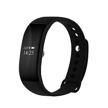 V66 - Montre/Bracelet dactivité (fitness, sport) Bluetooth 4.0, étanche (IP68), avec écran tactile OLED - Cardiofréquencemètre ...