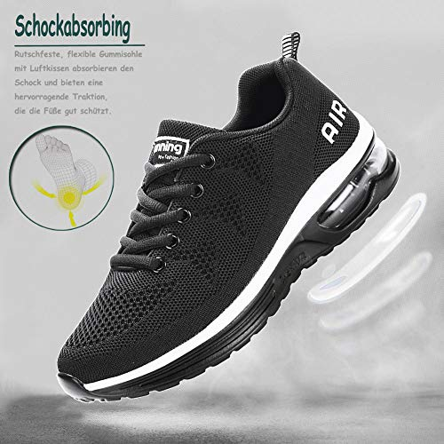 Scarpe da Ginnastica Uomo Donna Sportive Sneakers Running Basse Basket Sport Outdoor Fitness-BlackWhite40