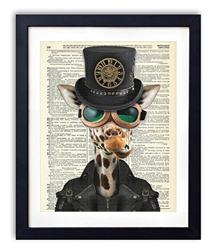 Dictionary Art Print - Steampunk Giraffe