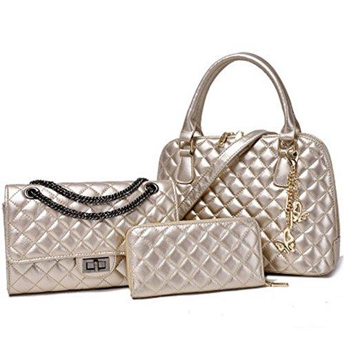 Bagoddess Western Platinum Elegent Shopper Crossbody Purse Handbag Three-pieces Bags(c2)