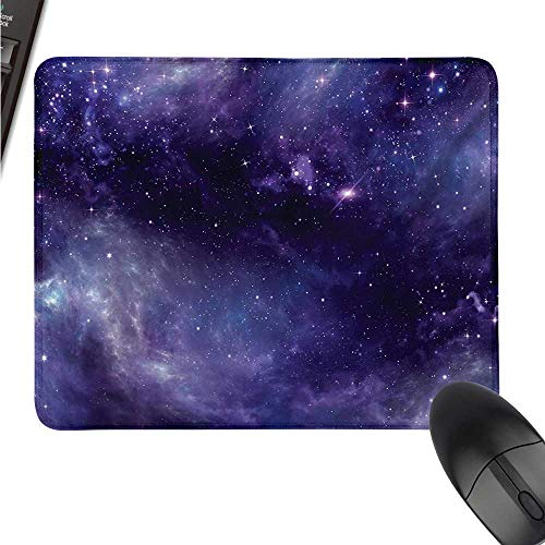 WQCBT Eggplant Extended Gaming Mouse padbig Sky with The Open Space Star Constellations and Gloomy Atmosphere Heavenly Bodies W11xL27.5(inch) ()