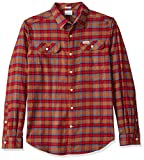 Columbia Men's Tall Size Flare Gun Stretch Flannel, Camel Brown Grid, LT