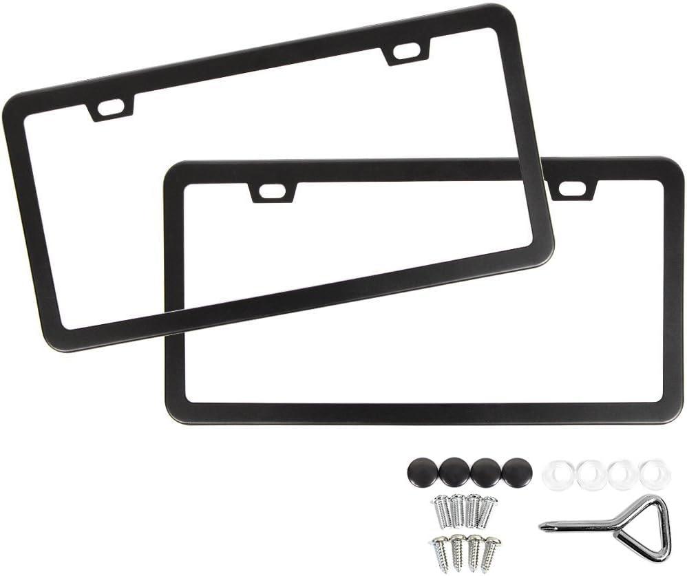 Metal Insert License Plate Frame Fantasy Football Loser C Weatherproof Car Accessories Black 2 Holes Solid Insert