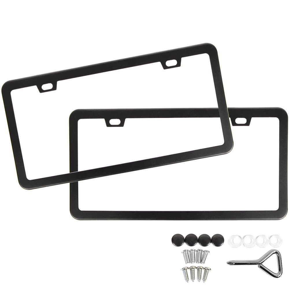 Amazon.com: License Plate Covers & Frames - Exterior Accessories ...