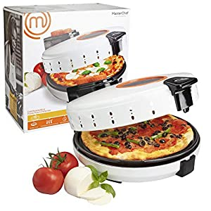 MasterChef Pizza Maker- Electric Rotating 12 Inch Non-stick Calzone Cooker – Countertop Pizza Pie and Quesadilla Oven w…