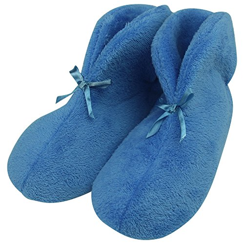 Indoor Vivid Winter Women's Slip Coral Warm Fleece Bootie Shoes Cozy Non Turquoise Forfoot Slippers House FCwqwv