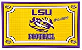 Team Sports America 41EM921 Embossed Door Mat-LSU, Multicolor