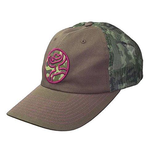 HOOey Women's Camo Bullseye Snapback Trucker Hat Camouflage One Size Bullseye Camo