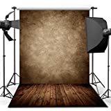 econious Photography Backdrop, 5x7 ft Concrete Wall Wood Floor Backdrop for Studio Props Photo Backdrop