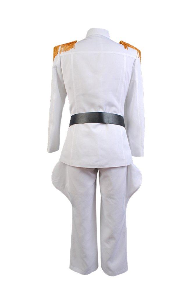 Kostor Star Wars imperialen Offizier Grand Admiral Uniform Cosplay Kost/üm Wei/ß XS Admiral-1