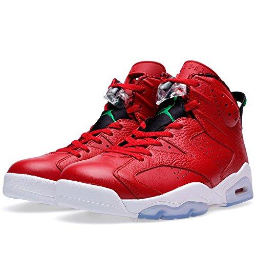 huge discount edb2e 6b9a6 ... Red Classic Green-Wht Leather Basketball Shoes Size 11. delicate Nike  Mens Air Jordan 6 Retro Spizike