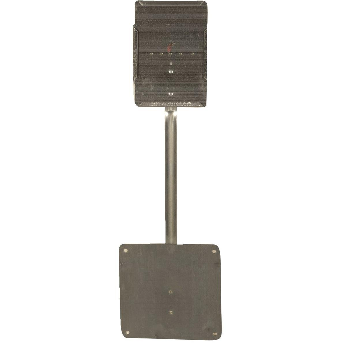 Economical One-Piece Galvanized Steel Sign Holders for Nurseries and Greenhouses, Includes 25 Sign Holders and 25 Reusable Cards, Overall height is 19'' Holds 5''W x 7''H signs