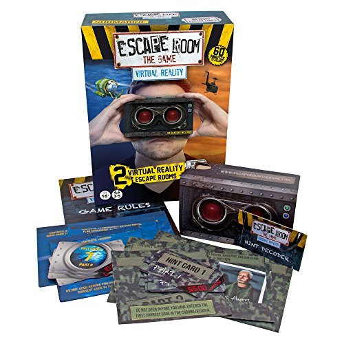 Identity Games Escape Room The Game: Virtual Reality Expansion Pack Edition - Two New VR Escape Room Adventures - with Viewer Glasses and Smartphone App [並行輸入品] B07SFSRMG3