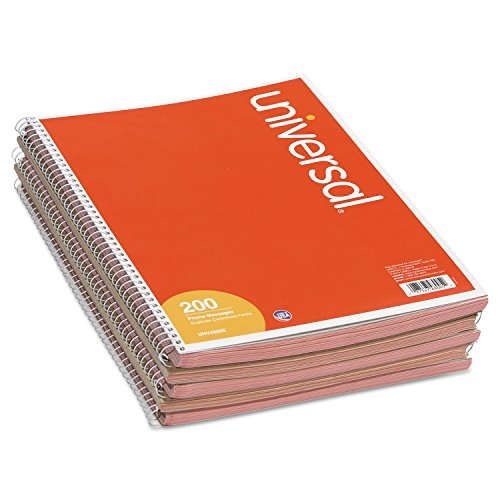 UNIVERSAL OFFICE PRODUCTS 48005 Wirebound Message Books, 3-3/16 x 5 1/2, Two-Part Carbonless, 200-Set Book