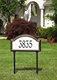 Custom Providence Arch REFLECTIVE ESTATE LAWN Plaque 23''W x 12''H (1 Line)