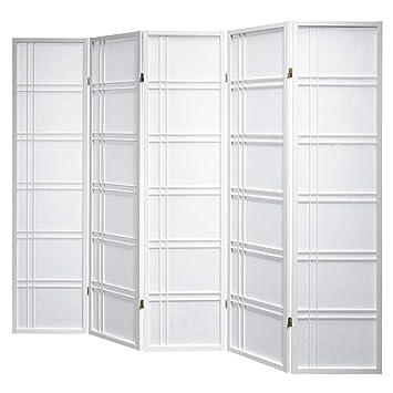Paravent Shiro Style 5 White Shoji Raumteiler weiß Trennwand by Cilios