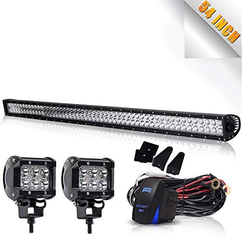 TURBOSII 54 Inch Offroad Led Light Bar Spot Flood Combo Beam