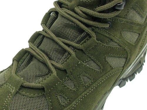 Mil-Tec Trooper - Botas de montaña (cuero y nylon, acolchadas), color verde verde oliva Talla:7