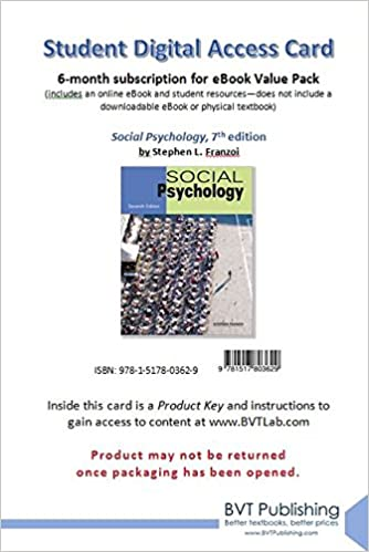Social psychology 7th edition franzoi 9781517803629 amazon social psychology 7th edition franzoi 9781517803629 amazon books fandeluxe Gallery