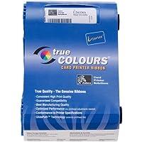 Zebra card 800017-207 I Series Monochrome Cartridge Ribbon for P1XX Printer, Metallic Silver True Color