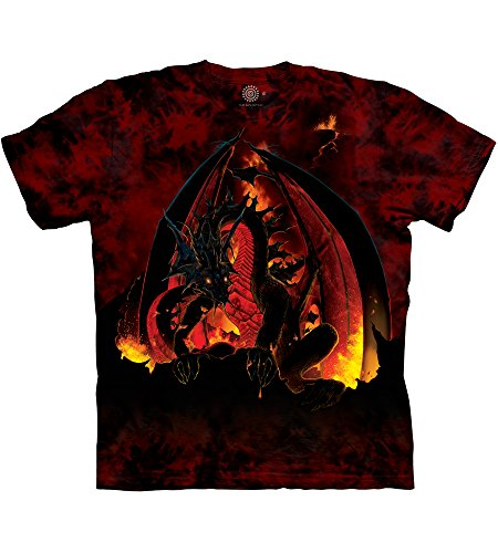 The Mountain Fireball Adult T-Shirt, Red and Black, 2XL