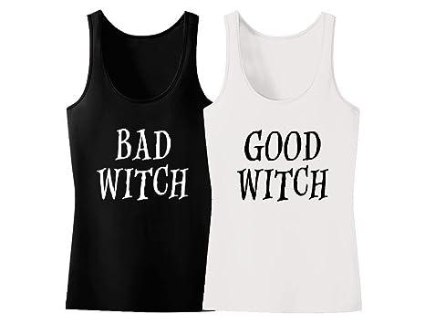 tstars goodbad witch best friends matching tank tops halloween costume for women good white