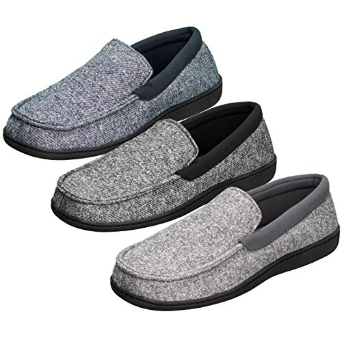a085b0060c2b Hanes Men s Memory Foam Indoor   Outdoor Soft Shoes Slippers Lace Fresh IQ