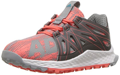 adidas Performance Girls' Vigor Bounce c Trail Runner, Easy Coral/Mid Grey/Energy Blue, 1 M US Little Kid by adidas