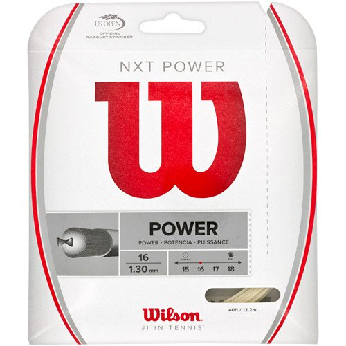 Wilson NXT Power 16 Gauge Natural Color Multifilament Tennis String 4-Pack (4 Sets Per Order)