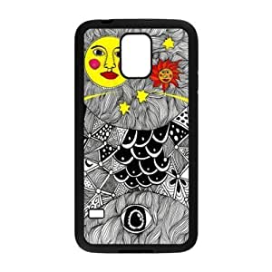 Kingsface Unique Printing Art Custom Trippy Moon and Sun cell phone case cover for fu3nlIAAsko SamSung Galaxy S5,TPU diy cover case cover s5-linda5