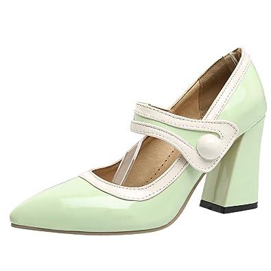 e0046ad959c856 Mee Shoes Damen Chunky Heels Klettverschluss Spitz Pumps -  goettingen-versicherung.de