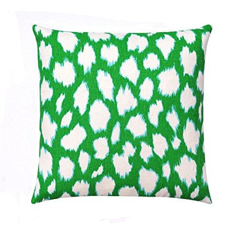 Almohada verde, funda de almohada verde y blanco, almohada ...