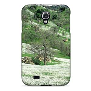 Shock-dirt Proof Hills Spring Season Oak Case Cover For Galaxy S4