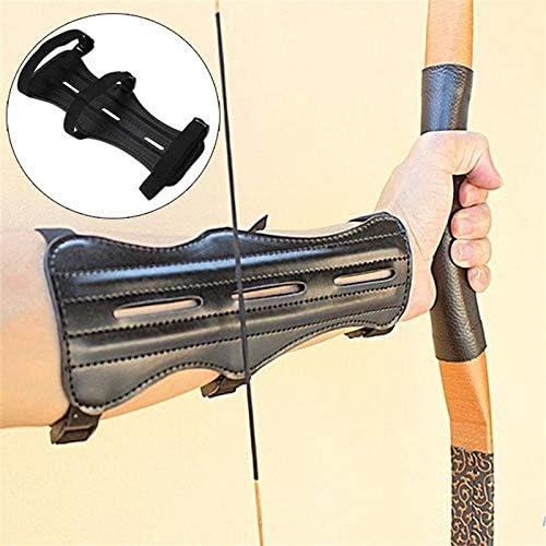 SHIYM-JT Pelle Bovina Tiro con LArco Attrezzature Braccio di Protezione Protezione avambraccio di Sicurezza Regolabile Arco Freccia di Caccia di addestramento al tiro Accessori Protector