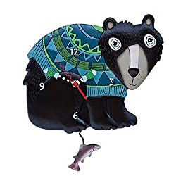 Allen Designs Bear Hug Pendulum Clock